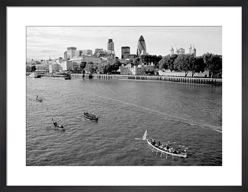 The Great River Race passing the City by Niki Gorick