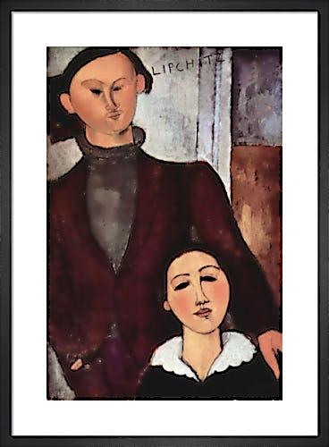 Portrait of Jacques & Berthe Lipchitz by Amedeo Modigliani
