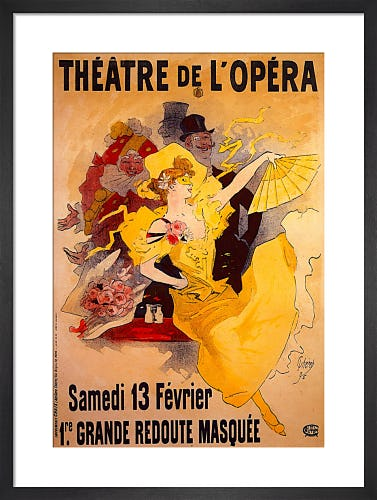 Masked Ball - Theatre de L'Opera, Paris 1896 by Jules Cheret