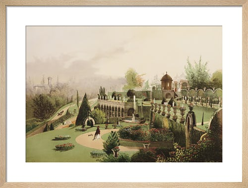 A View in the Gardens at Alton Towers by Edward Adveno Brooke
