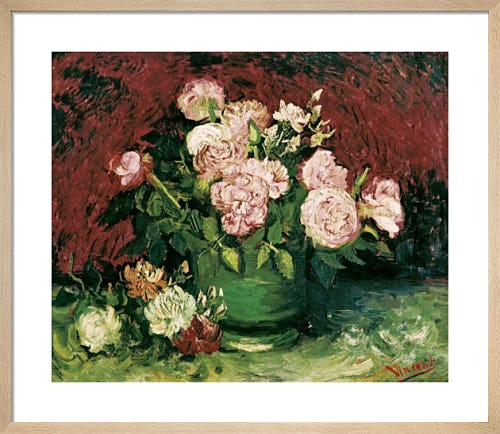 Roses and Peonies, 1886 by Vincent Van Gogh