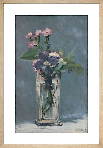 Carnations and Clematis in a Crystal Vase by Édouard Manet