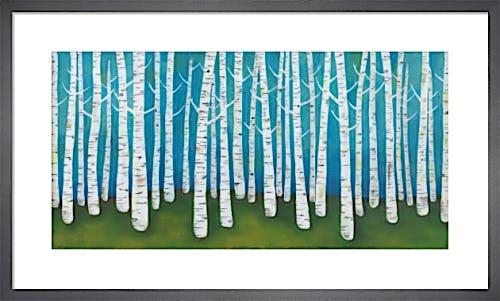 Springtime Birches by Lisa Congdon