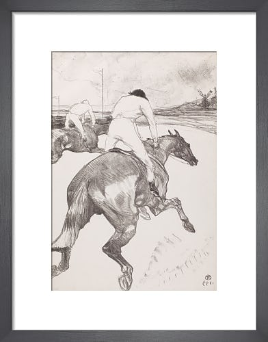 The Jockey by Henri de Toulouse-Lautrec