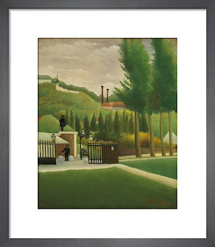 Toll gate by Henri Rousseau