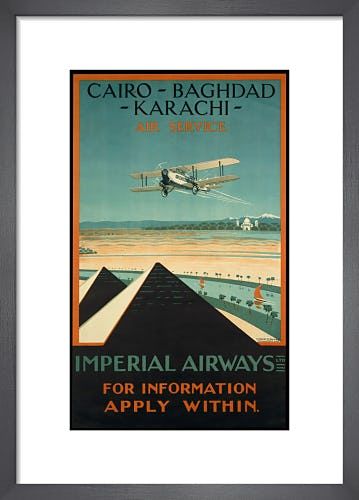 Imperial Airways - Cairo-Baghdad-Karachi by Anonymous