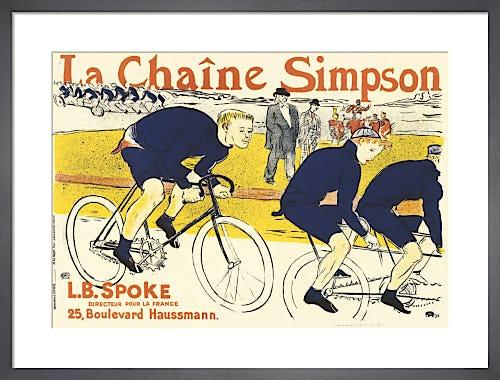 Simpson Bicycle Chains, 1896 by Henri de Toulouse-Lautrec