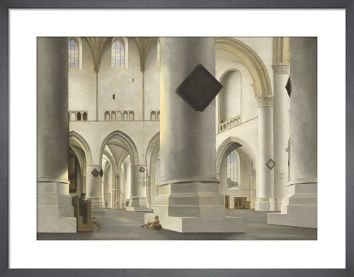 The Interior of the Grote Kerk at Haarlem by Pieter Saenredam