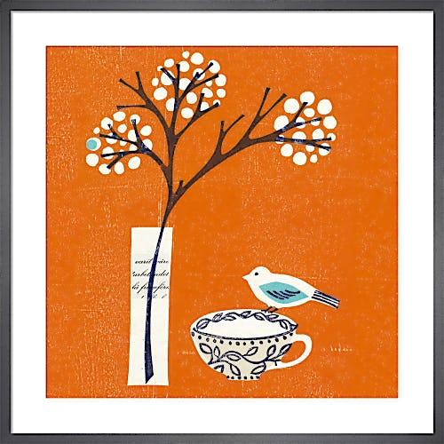 Bird on Teacup by Fiona Howard