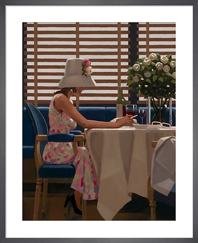 Days of Wine and Roses by Jack Vettriano