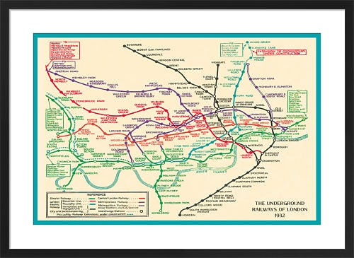 London Underground Map 1932 by Transport for London