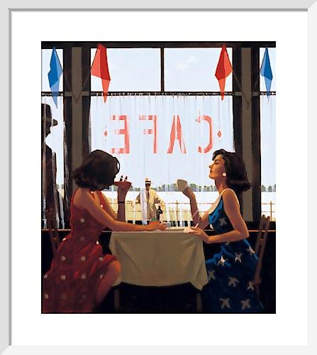 Cafe Days by Jack Vettriano