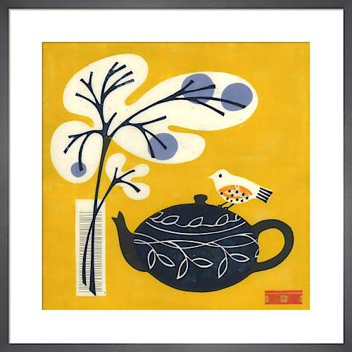 Yellow Bird on Teapot by Fiona Howard