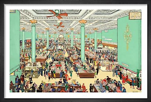 The British Scene - Department store scene, 1939-1946 by Grace Lydia Golden
