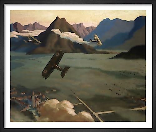 British Scouts leaving their Aerodrome, 1918 by Sydney W Carline