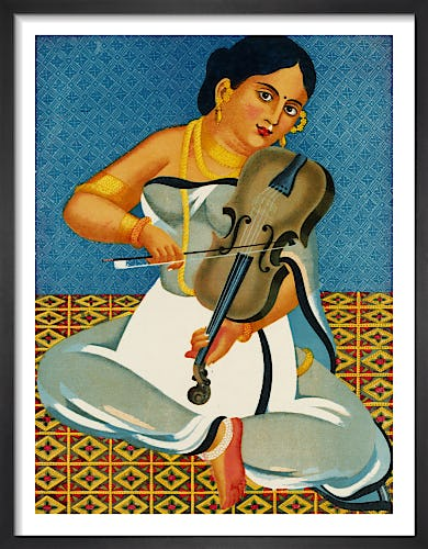 A courtesan with a violin, 1930 from V&A