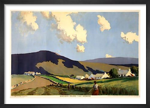 Empire Marketing Board - Northern Ireland Flax Growing by J H Craig