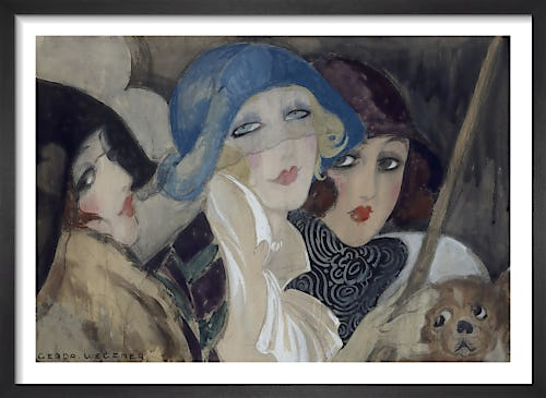 Three Young Women in Hats, 1920's by Gerda Wegener