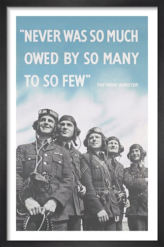 Never Was So Much Owed by So Many to So Few from Imperial War Museums
