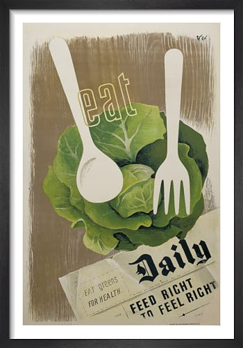 Eat Greens for Health - Feed Right to Feel Right by Hans Schleger