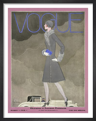 Vogue October 1928 by Georges Lepape