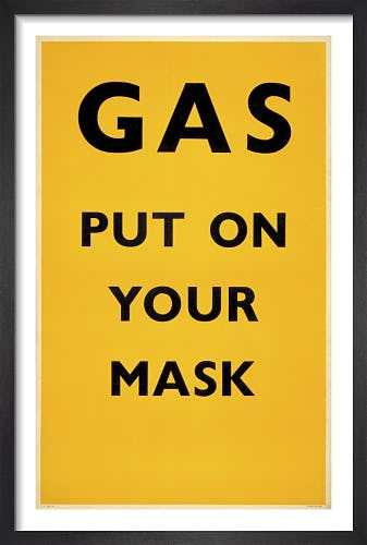 Gas - Put on your mask, 1941 from London Transport Museum