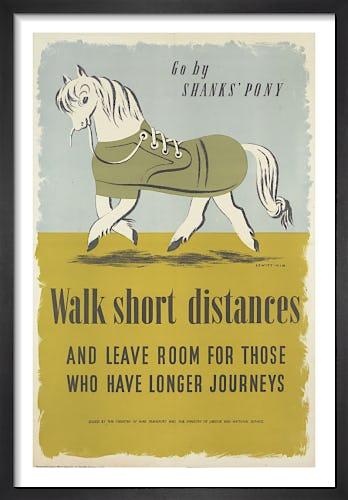 Go by Shanks' Pony - Walk Short Distances by George Him & Jan Le Witt-Him
