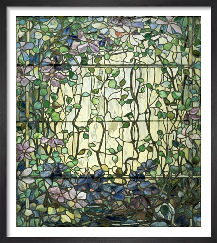 Stained Glass with Clematis, c.1900 by Louis Comfort Tiffany