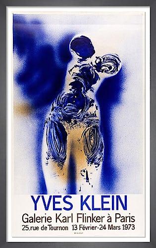 Galerie Karl Flinker a Paris, 1973 by Yves Klein