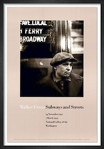 Subway Portrait by Walker Evans