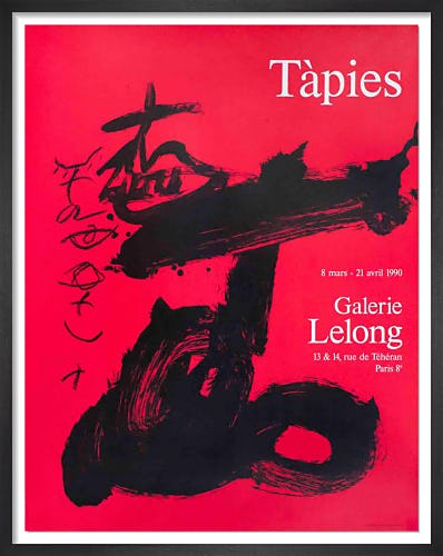 Black and Red, Galerie Lelong 1990 by Antoni Tapies