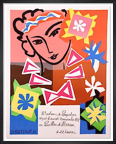 Madame de Pompadour au Pavillon de Marsan by Henri Matisse