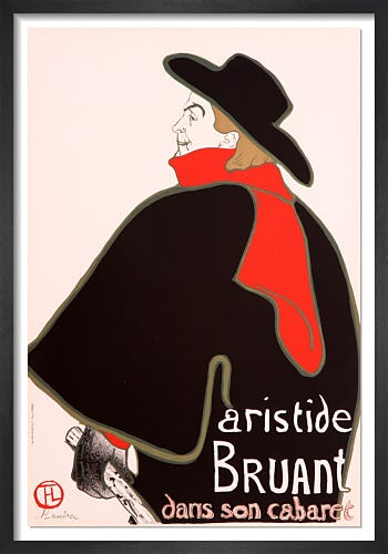 Aristide Bruant, 1960 by Henri de Toulouse-Lautrec