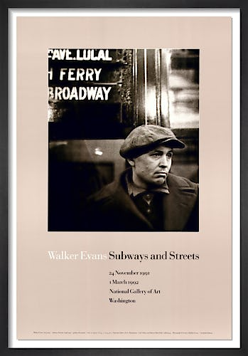 Subway Portrait by Walker Evans