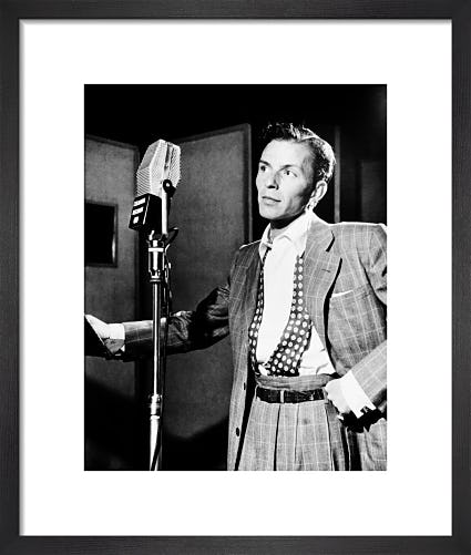 Frank Sinatra in the studio by Hollywood Photo Archive