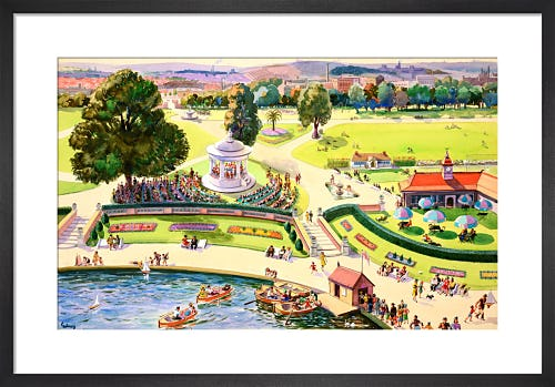 The British Scene - City park scene, 1939-1946 by John Thomas Young Gilroy
