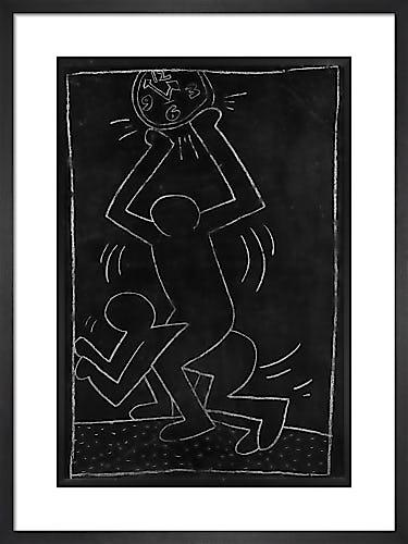 Untitled (subway Drawing) 12 by Keith Haring