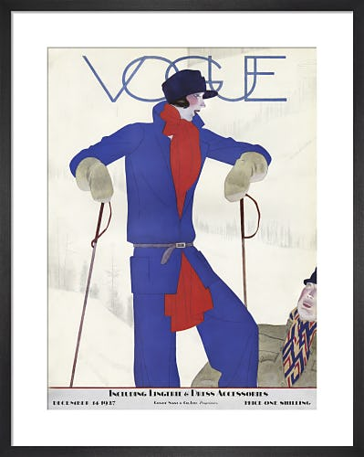 Vogue 14 December 1927 by Pierre Mourgue