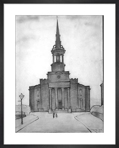 Christ Church, Salford, 1956 by L.S. Lowry
