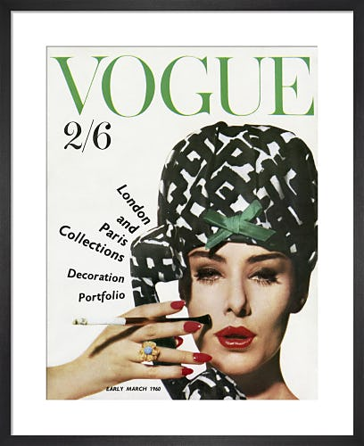 Vogue Early March 1960 by Claude Virgin