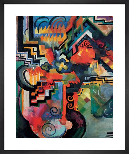 Colored Composition (Homage to Johann Sebastian Bach) by August Macke