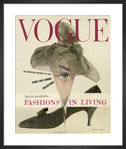 Vogue March 1958 by John Rawlings