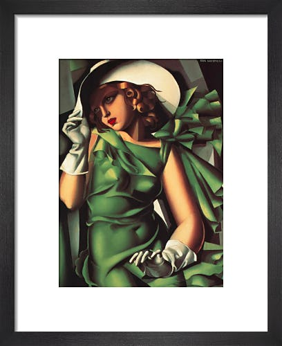 Young Lady with Gloves (Girl in a Green Dress), 1930 by Tamara de Lempicka