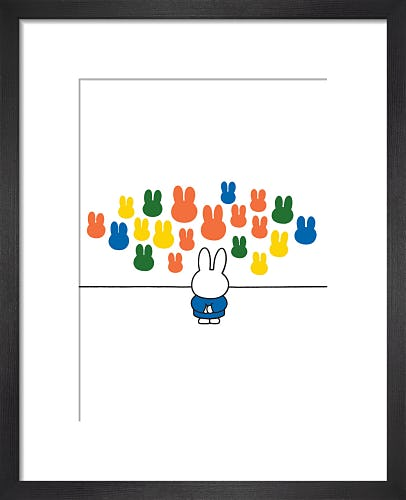 Thoughtful Miffy by Dick Bruna