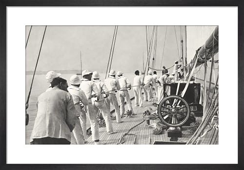 Hoisting sail from Stilltime