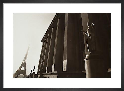 Sepia Eiffel Tower by Carl Lyttle