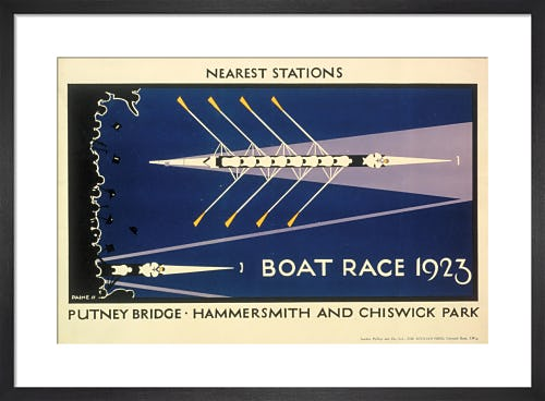 Boat Race, 1923 by Charles Paine