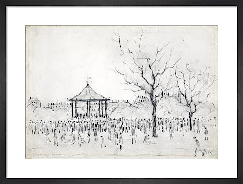 Bandstand, Peel Park, Salford, 1924 by L.S. Lowry
