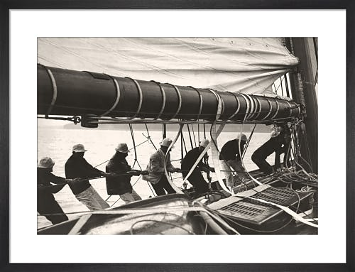 Sailing Teamwork - Hoisting Sail from Stilltime