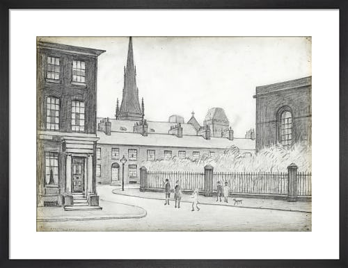 By St Philips Church, Salford, 1926 by L.S. Lowry
